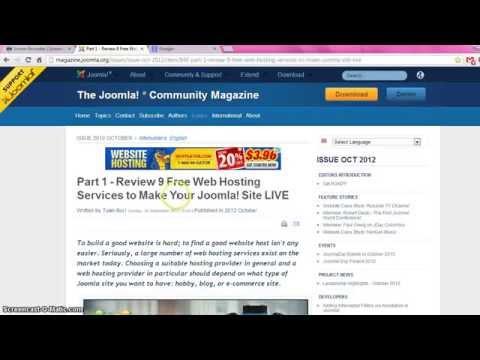 Joomla Free Web Hosting Tutorial