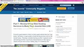 видео Бесплатный хостинг Joomla