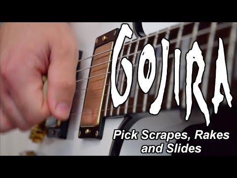 How To Play Gojira Style Pick Scrape, Rake and Slides