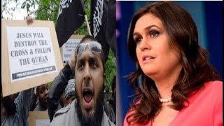 Sarah Sanders no Desmiente una Guerra contra los países Musulmanes
