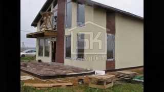 Строительство дома из СИП панелей по канадской технологии.(www.sk-evrodom.ru Строительство дома из СИП панелей по канадской технологии. Площадь СИП дома 212 м2. Отделка фасада..., 2014-11-21T07:54:39.000Z)