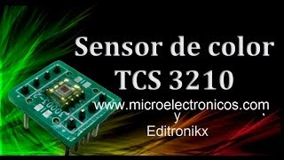 sensor detector de color TCS3210/3200 y arduino