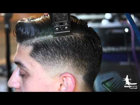 Hard Part Comb Over Fade