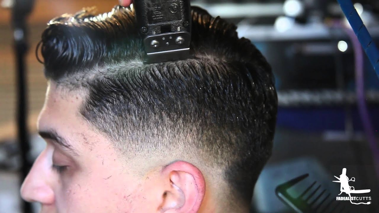 Hard Part Comb Over Fade Youtube