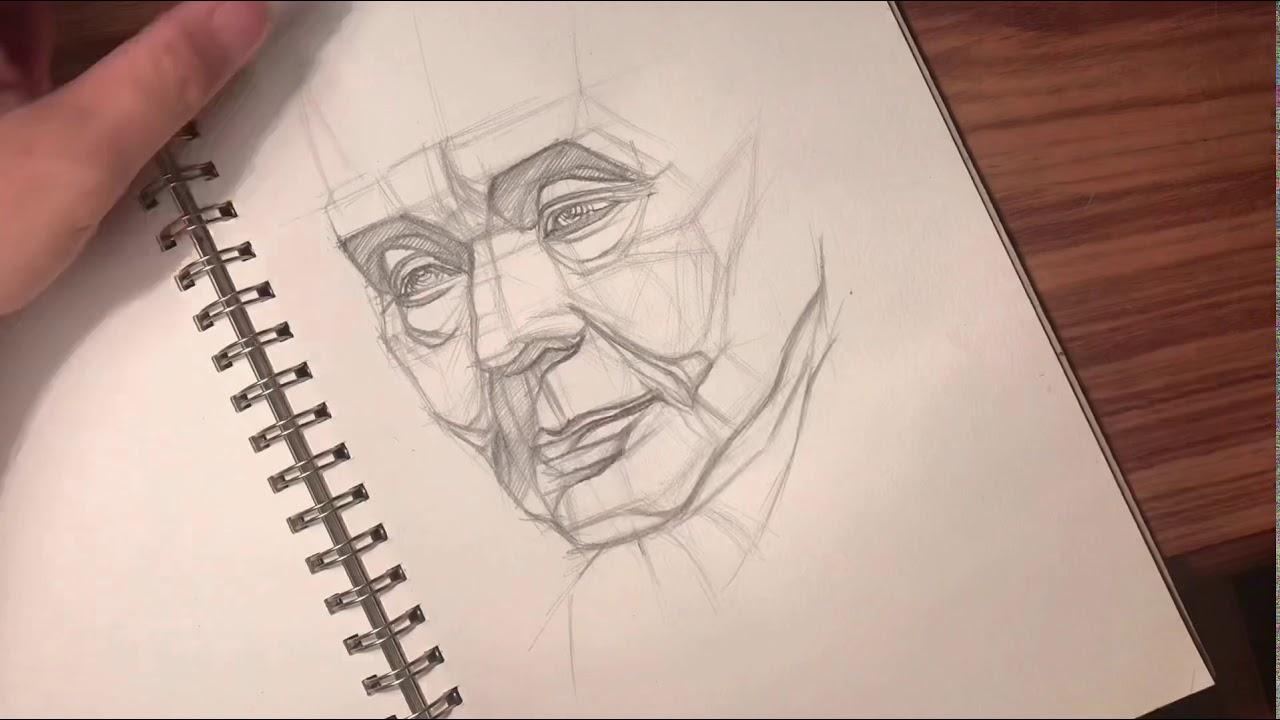 [HỌC online mùa dịch]…CÁCH VẼ MẶT TƯỢNG HIỆU QUẢ..(how draw a face'statue)