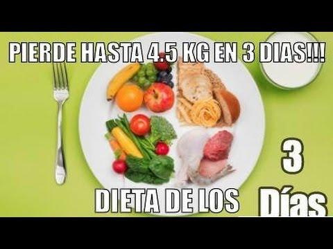 Dieta para bajar 4 kilos en 3 dias