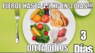 DIETA DE LOS 3 DIAS. *ADELGAZA HASTA 4.5 KG EN 3 DIAS Y 18 KG EN UN MES!!!
