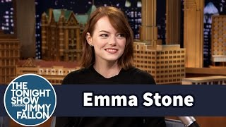 Emma Stone Gets Surprised With A Song From Her First Musical