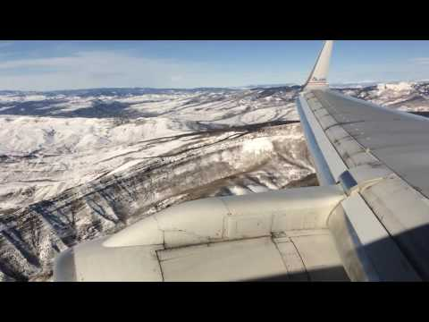 SNOWY! | AMERICAN 757-200 | LANDING IN EAGLE VAIL, COLORADO