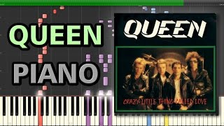 Crazy Little Thing Called Love - Queen | Synthesia Piano Tutorial