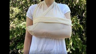Écharpe pour une blessure au coude, à l'épaule et à la clavicule