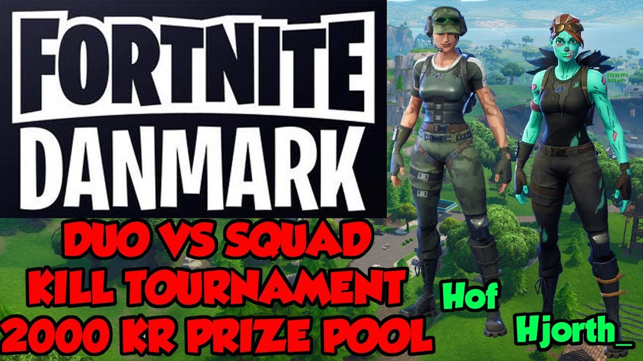 Fortnite Danmark kill turnering med Hof! | 1000 & 2800 v-bucks giveaway | Hjorth_ full game