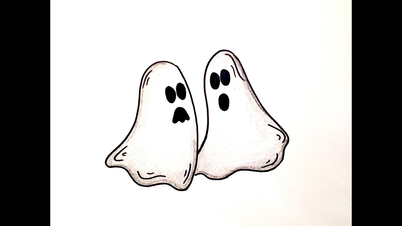 Drawing Lesson How to Draw Halloween Ghosts  YouTube