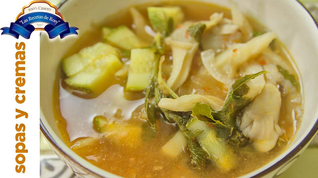 como hacer una rica sopa de setas