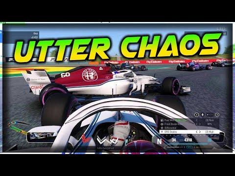 T-BONE CRASH, JUMP START & LAG! UTTER CHAOS | F1 2018 Game Online