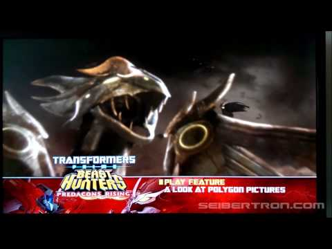 Menu animation for Transformers Prime Beast Hunters Predacons Rising Blu-Ray from Shout! Factory