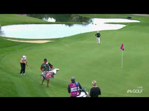 Lydia Ko Chips In for Birdie on 5th Hole in RD2 of The Evian Championship