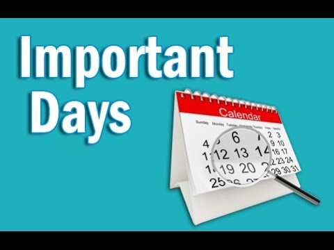 Important Days in Hindi | Static GK