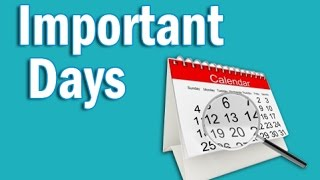 Important Days in Hindi   Static GK