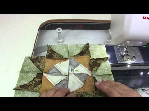 Технология сборки блока из треугольников.