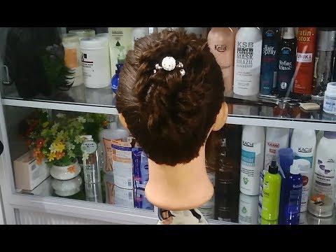 Cách búi tóc đẹp! Kiểu búi cao thích hợp cho phụ nữ trung niên sang trọng dịp lễ tết! Kiểu thứ 19!