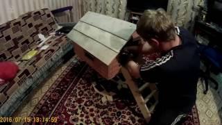 Домик для животных-Домик на курьих ножках своими руками (часть 1) Кошкин дом. Не стандартный.(Домик на курьих ножках. Не для кого не секрет, что кошки любят лежать повыше и пришла мысль сделать его., 2016-11-25T07:56:51.000Z)