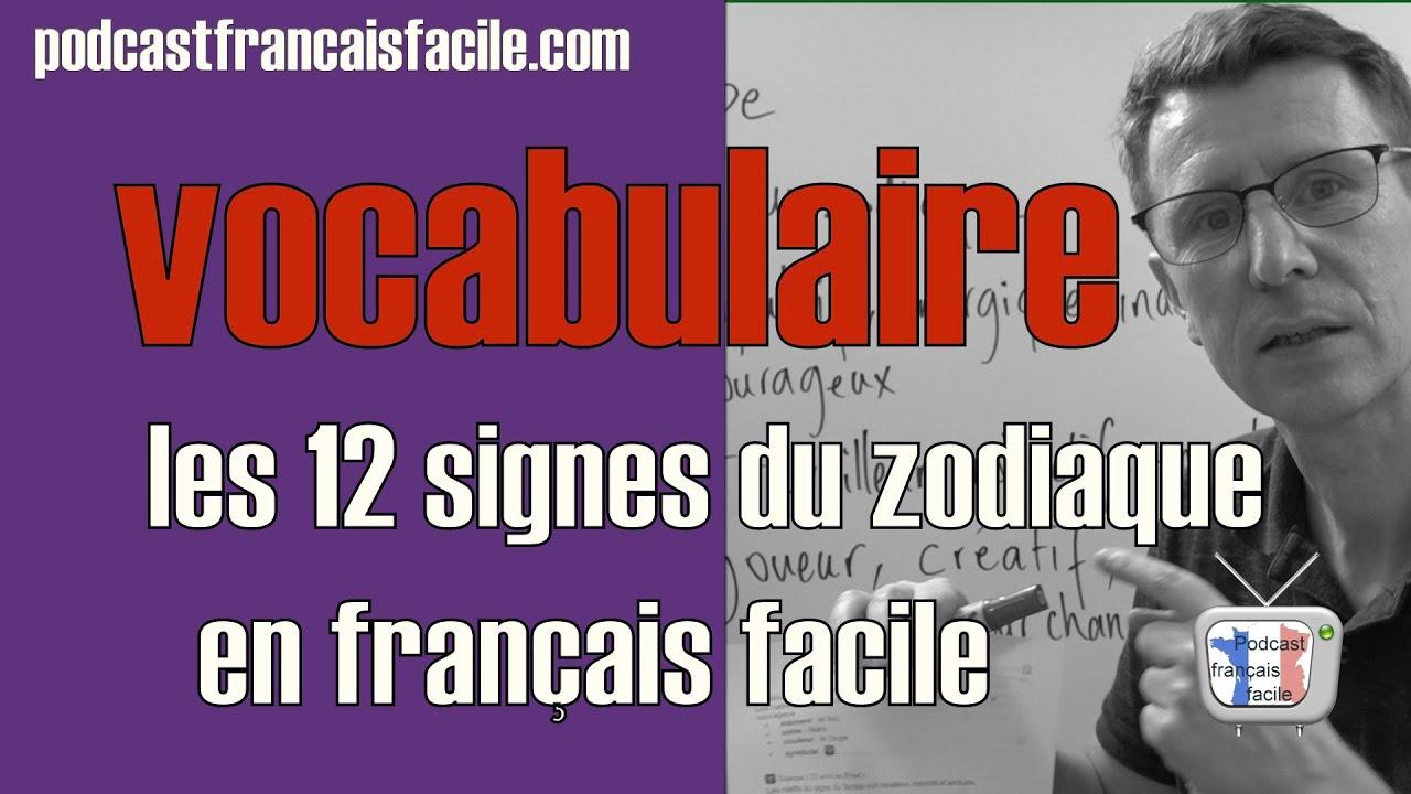 horoscope   leçon de vocabulaire en français   les 12 signes du zodiaque
