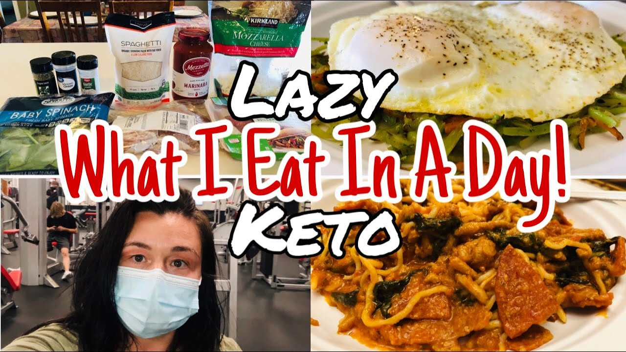 What I Eat In A Day | Lazy Keto | Pizza Spaghetti (New Recipe) 😋