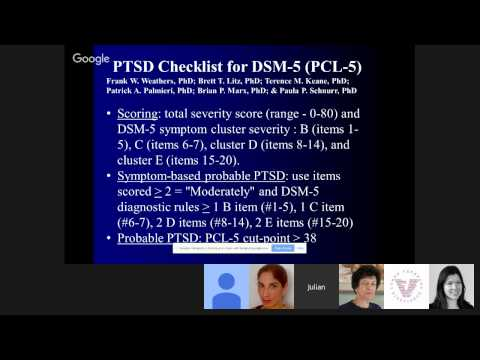Dr. Julian Ford - Post-Traumatic Stress Disorder Assessment & Treatment Planning