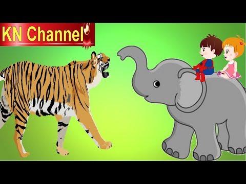Bé Na CỨU VOI CON THOÁT KHỎI HỔ DỮ | KN Channel  Hoạt hình Việt Nam | GIÁO DỤC MẦM NON