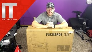 Flexispot Sit Stand Desk Review and Unboxing - Ergonomic Stand Up Desk