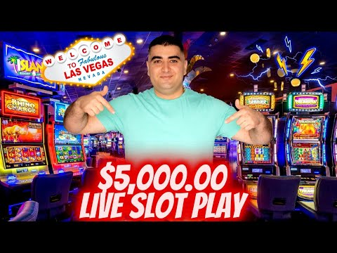$5,000 Live Premiere Stream From Las Vegas - Up To $75 A Spins ! High Limit Slot Play At Casino