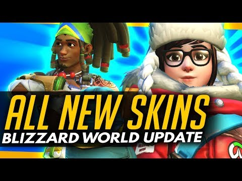 Overwatch | ALL NEW SKINS + COSMETICS [Blizzard World Update]
