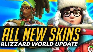 Overwatch | ALL NEW SKINS + COSMETICS [Blizzard World Update]