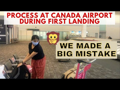 What Happens At CANADA AIRPORT During FIRST LANDING   New Immigrants In Canada   HumptyDumpty2