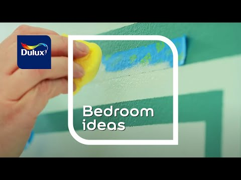 Bedroom Ideas: Painted Graphic Effects - Dulux