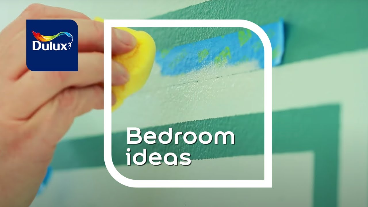 Bedroom Ideas: Painted Graphic Effects   Dulux   YouTube