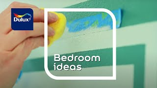 Dulux Bedroom Ideas: Painted Graphic Effects