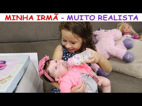 MINHA NOVA IRMÃ BEBÊ REBORN / NICOLE OU CATARINA? - VALENTINA