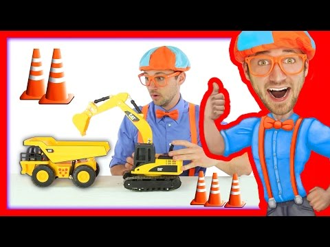 Thumbnail: Learn about Construction Trucks with Blippi Toys