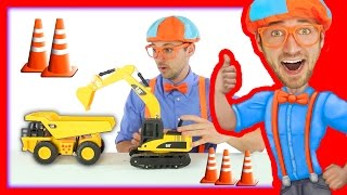 Learn about Construction Trucks with Blippi Toys
