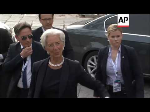 G7 finance ministers arrive in Bari