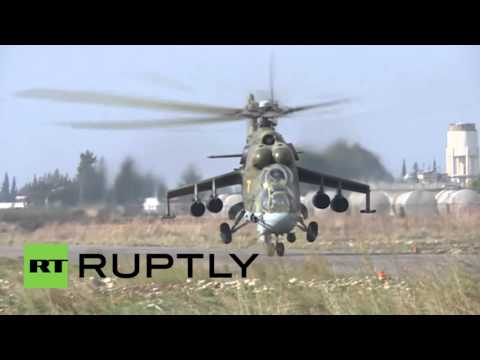 Syria: Russian choppers