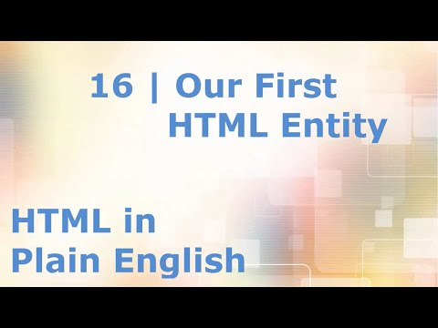 HTML5 Tutorial for Beginners | 16. &nbsp HTML Entities - Adding a Blank Space