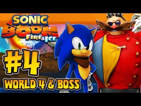 Sonic Boom Fire & Ice (3DS) - (1080p) Part 4 - World 4 Cutthroat Cove & Boss