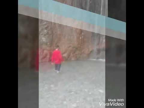 Masti zadey at Sehra baba reasi Water fall...