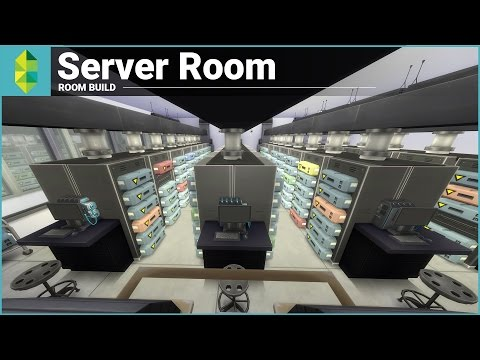 The Sims 4 Room Build - Server Room