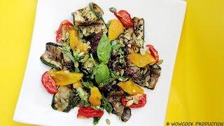 Салат с цукини и тыквенными семечками