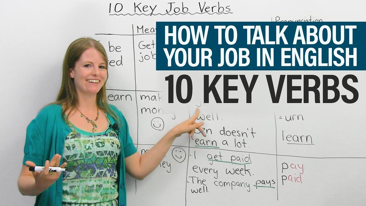 How to talk about your job in English: 10 Key Verbs