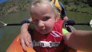 Liams first kayak ride